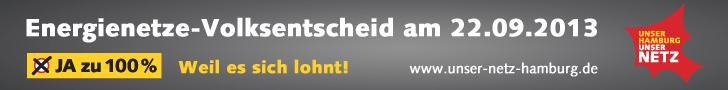 Unser Hamburg – Unser Netz: Energienetze-Volksentscheid am 22.09.2013
